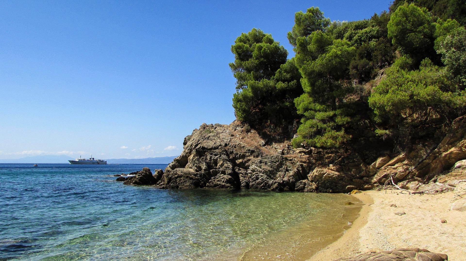 Greek beach in Halkidiki