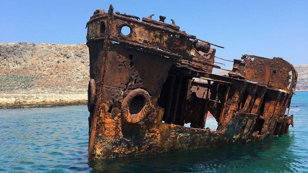 Trip to Balos and Gramvousa - Shipwreck