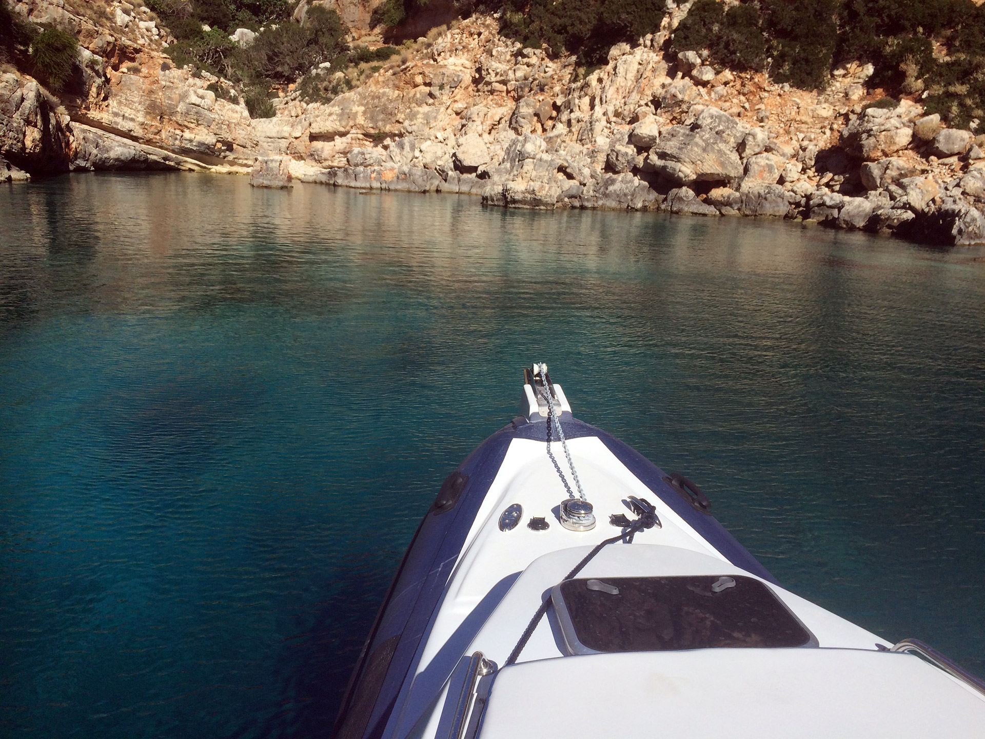 Half Day Private Speedboat Charter to Souda Bay in Crete