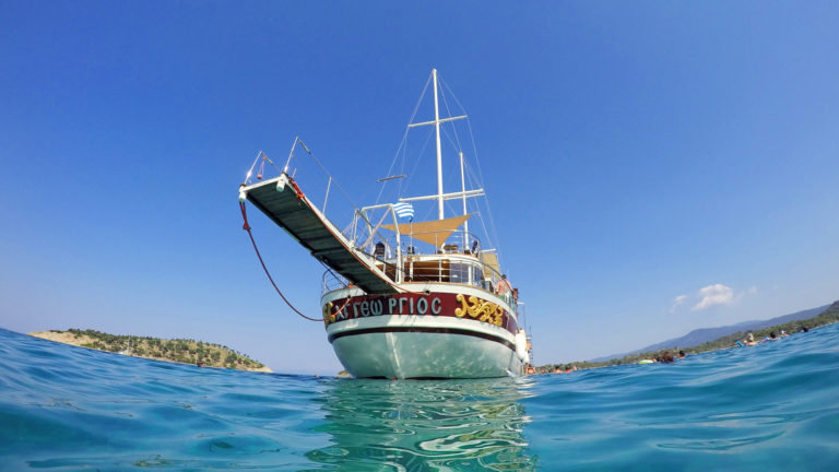Blue Lagoon Cruise in Halkidiki from Sithonia