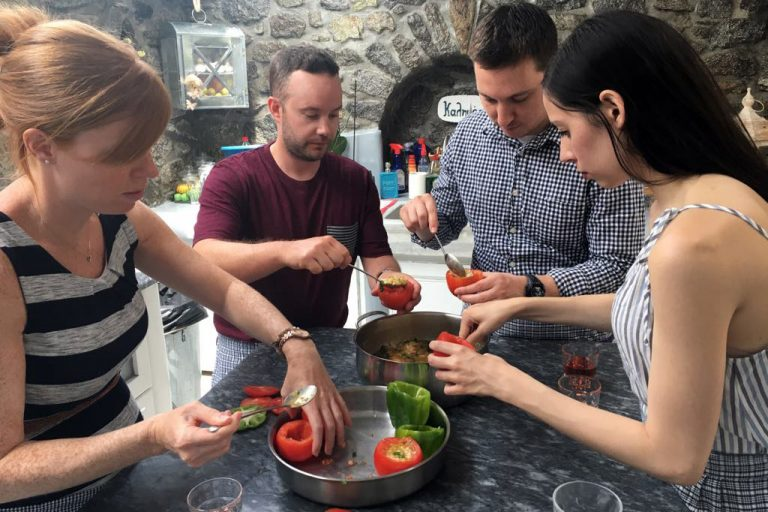 People Enjoying Cooking Class in Mykonos