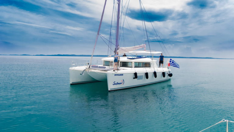 Luxury catamaran Halkidiki sailing cruise