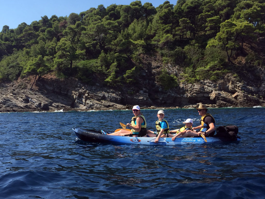 Full Day Sea Kayak Trip in Halkidiki