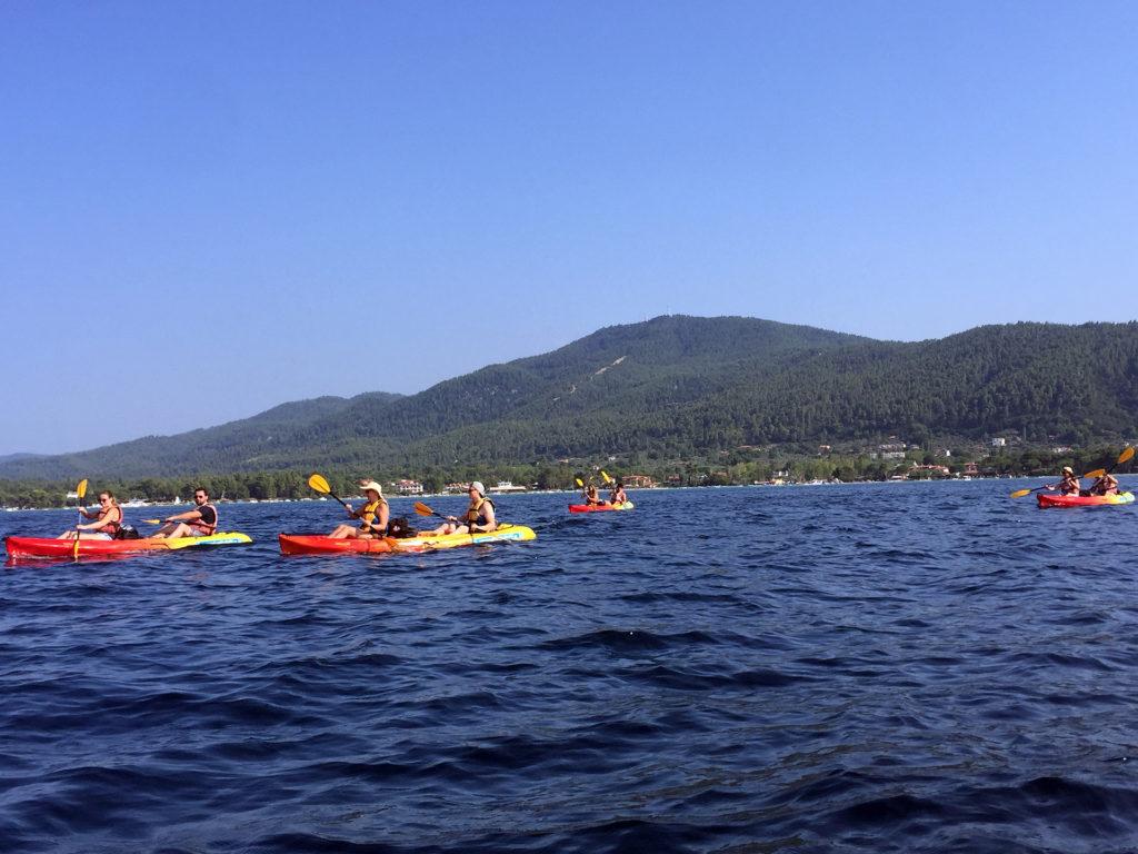 Sunset Sea Kayak Trip in Halkidiki