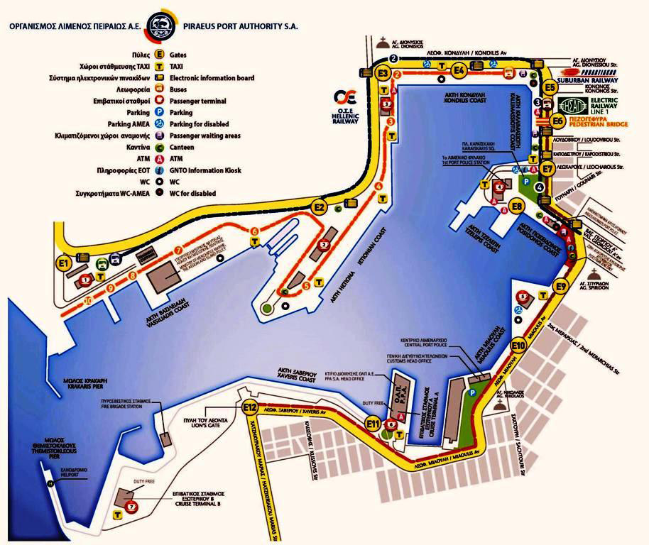 Piraeus Port Map
