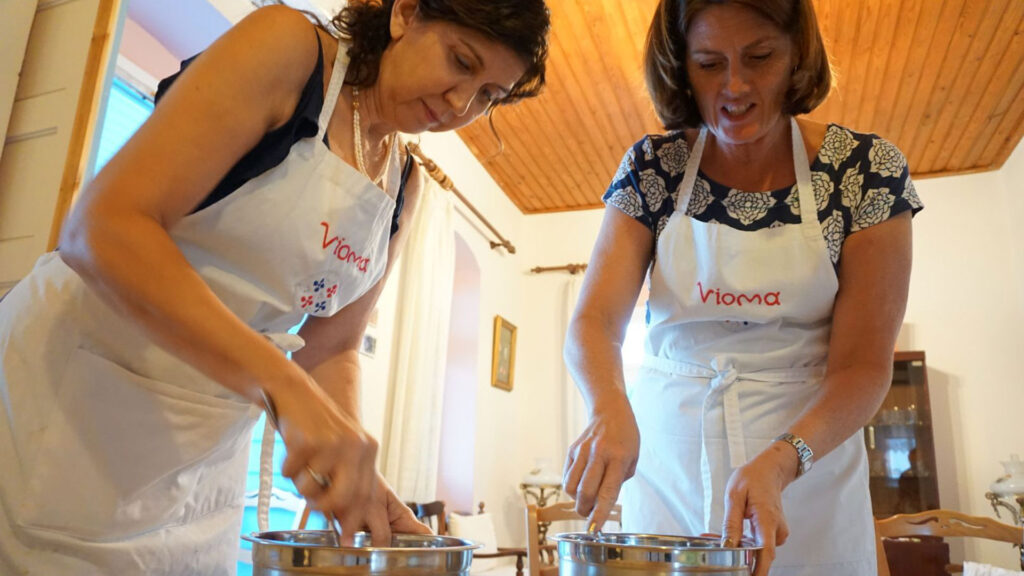 Prepare Traditional Meal in Local's Home in Naxos