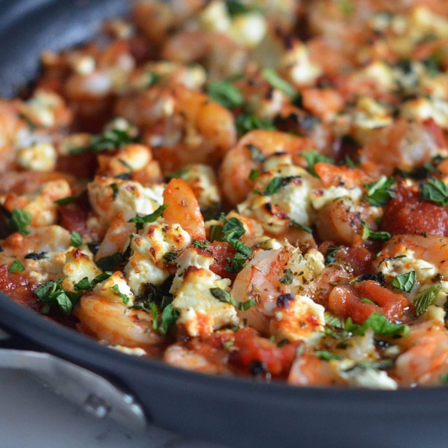 Greek shrimps with feta