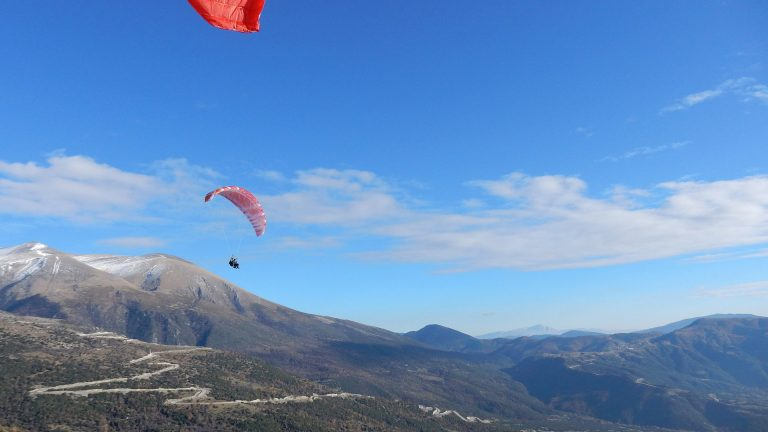 Paragliding Tandem Flight over Mt Olympus
