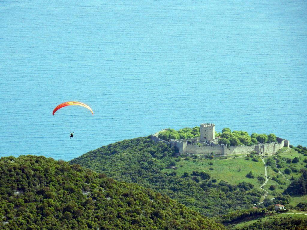 Paragliding Tandem Flight over Mt Olympus