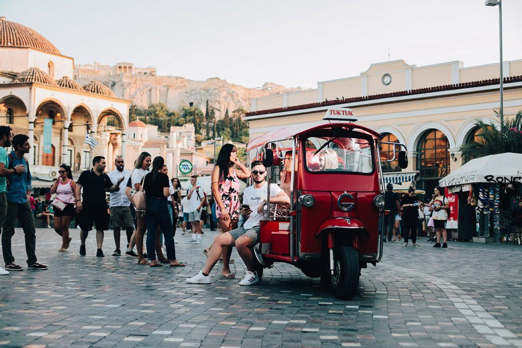 Sightseeing Tour of Historical Athens on Tuk Tuk