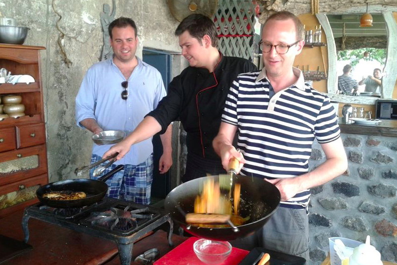Cooking Class and Wine Tasting Tour in Santorini