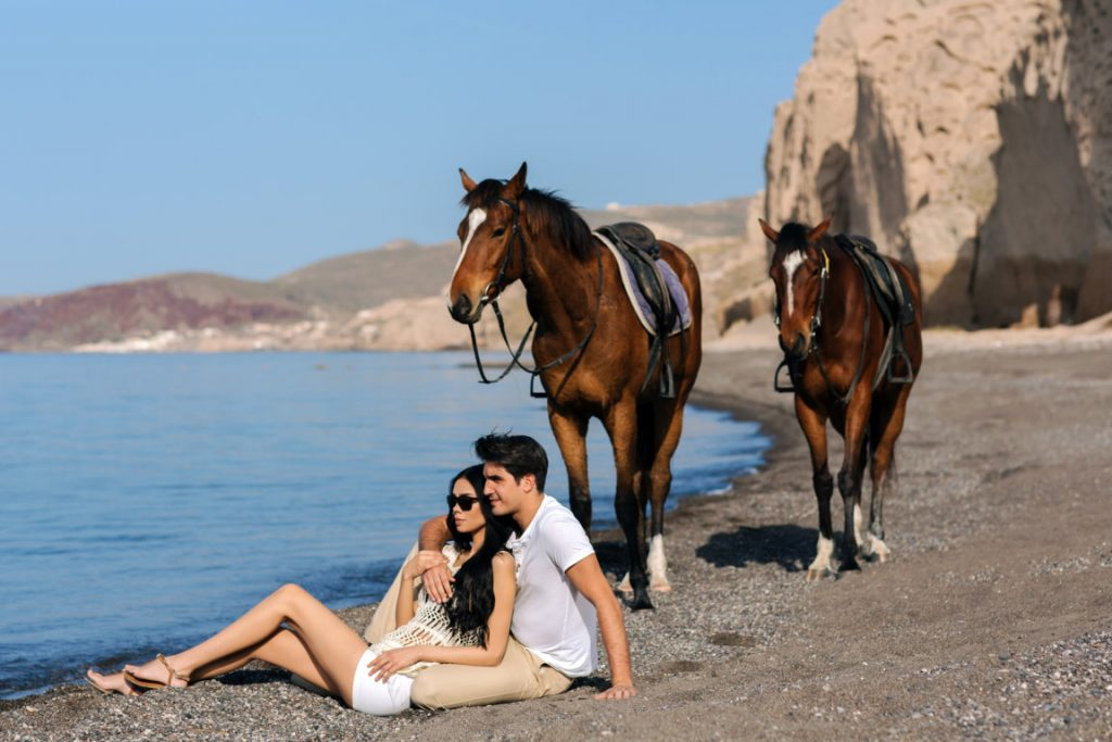 Santorini Horse Riding at Eros Beach
