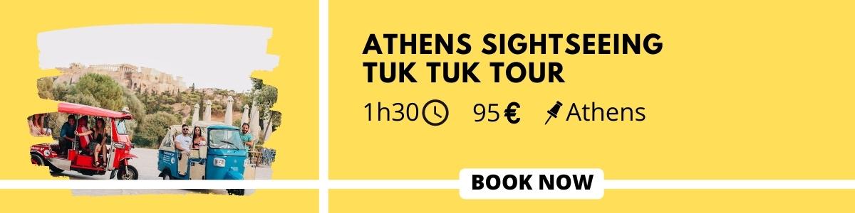 Athens sightseeing tuk tuk tour