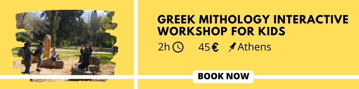 Greek mythology workshop for kids tour in Athens