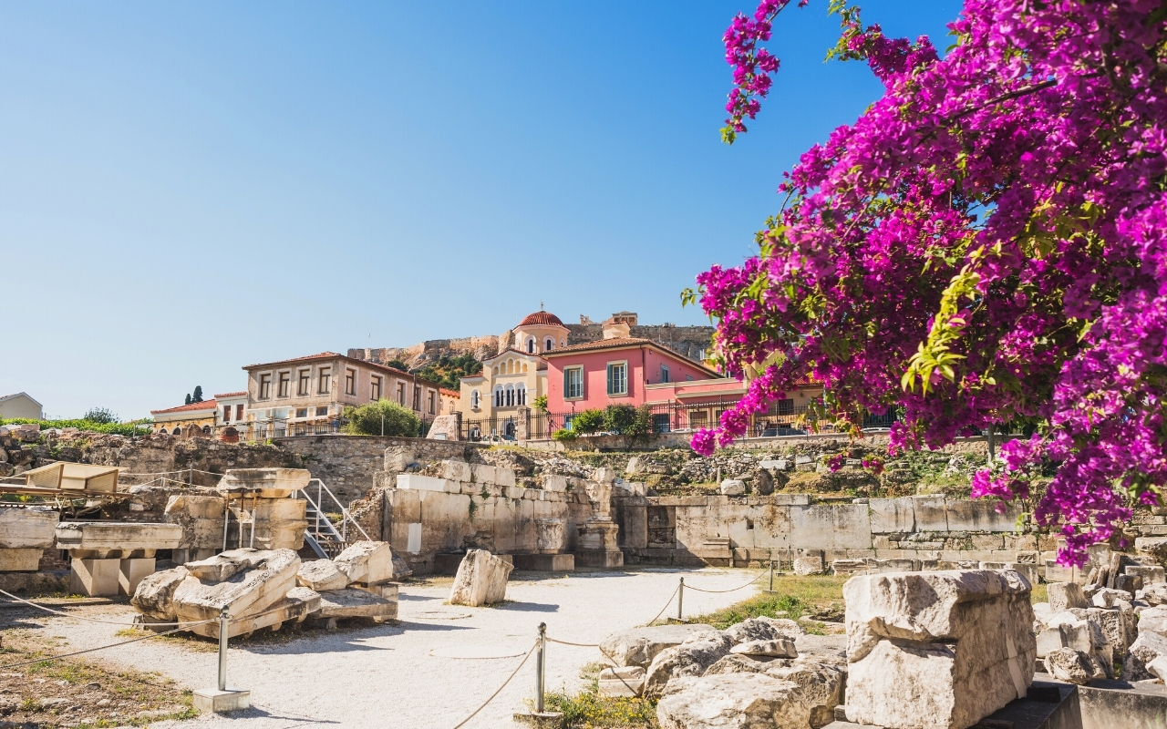 Best things to do in Athens Hadrians library Plaka