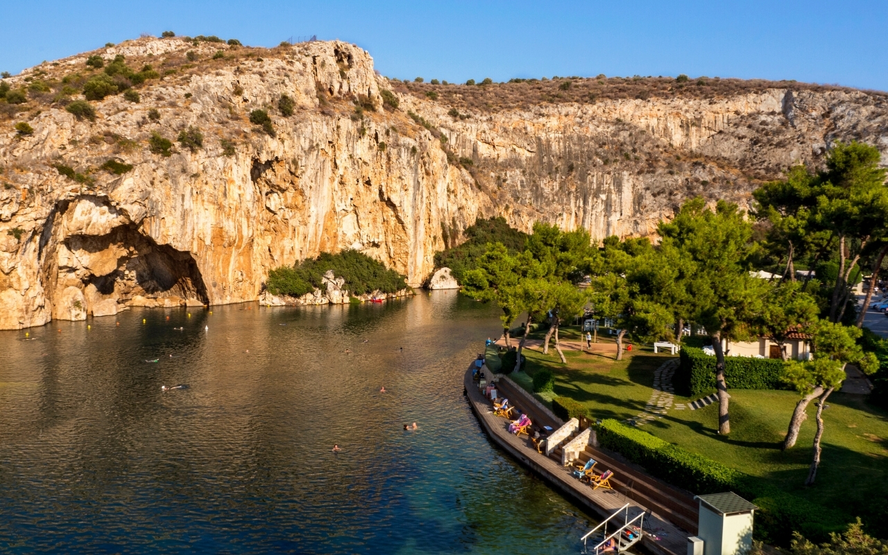 Best things to do in Athens best beaches Vouligameni lake