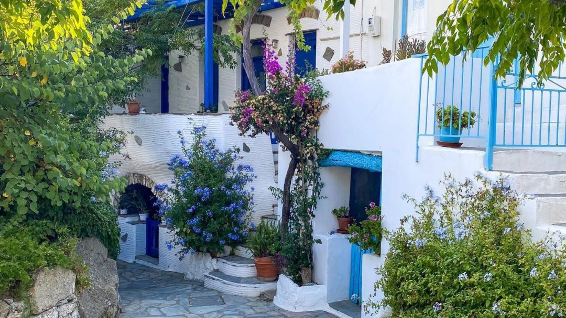 The village of Volax in Tinos