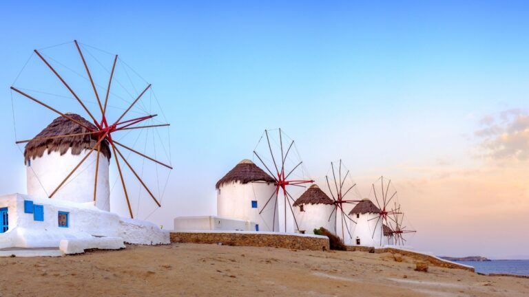The Windmills of Mykonos one of the top things to do in Mykonos