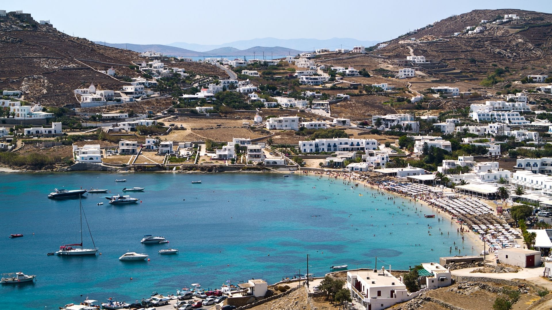 The seaside village of Ornos