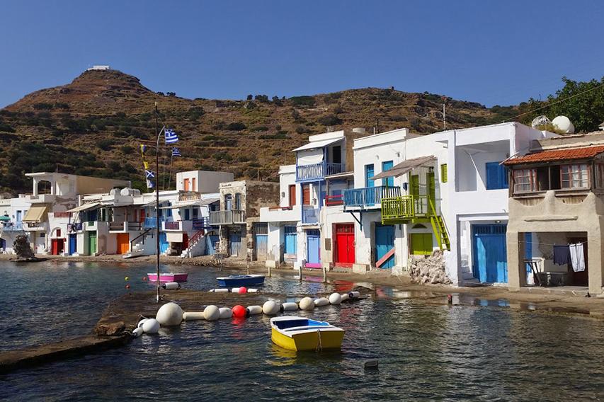 Catamaran day cruise in Milos, Greece