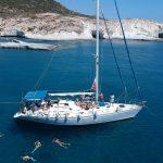 Milos sailing tour to Kleftiko in Milos, Greece