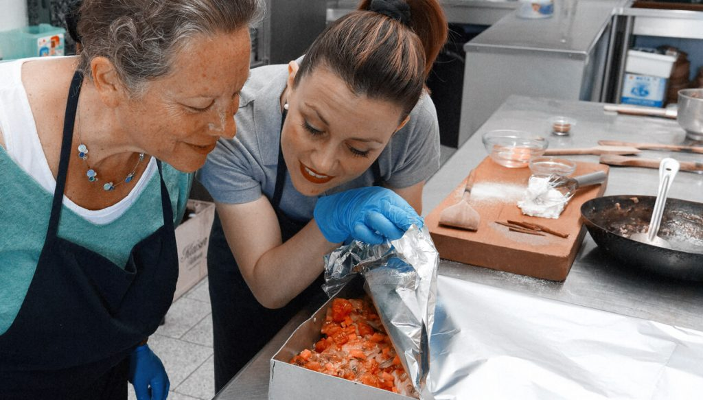Cooking class in Amorgos, Greece