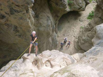 Crete canyoning tour at Tsoutsouros canyon in Greece