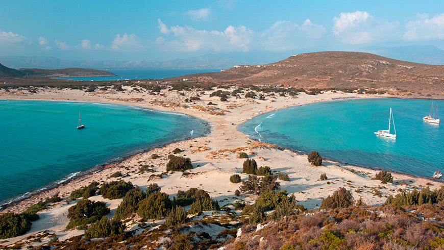 Mykonos catamaran sailing tour to Delos and Rhenia islands, Greece