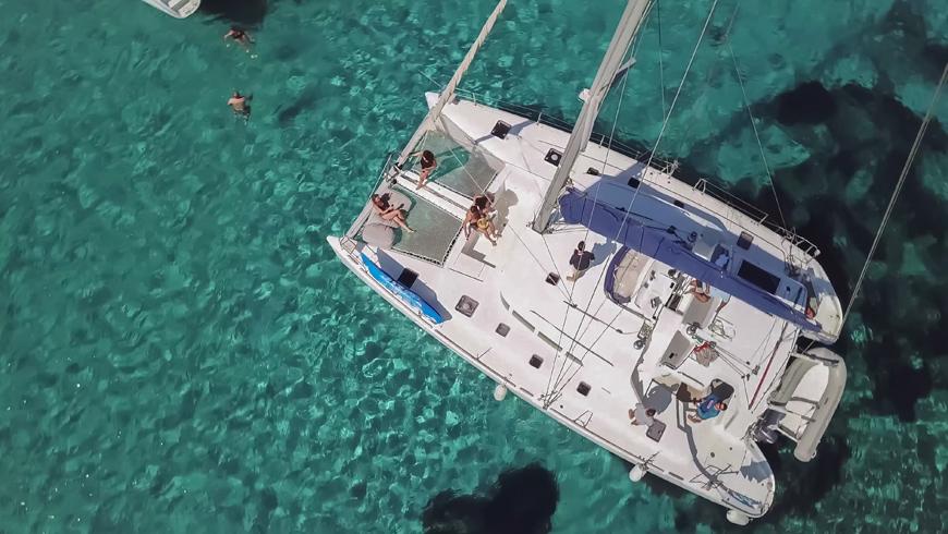 Mykonos catamaran sailing tour, Greece